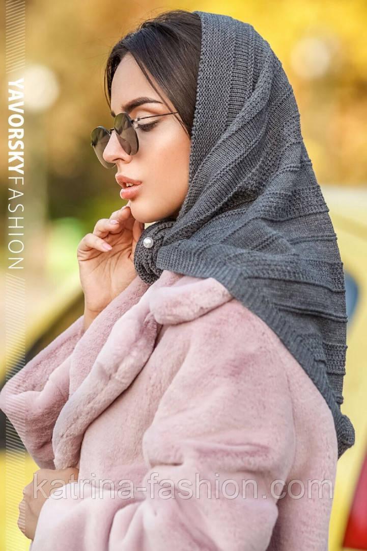 Женская вязанная модная косынка (3цвета)