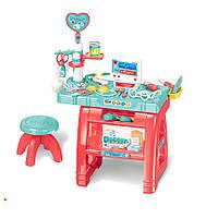 Набор Доктор 660-62 свет,звук,стол,стул,инструменты, в кор. 61*12,5*45 см