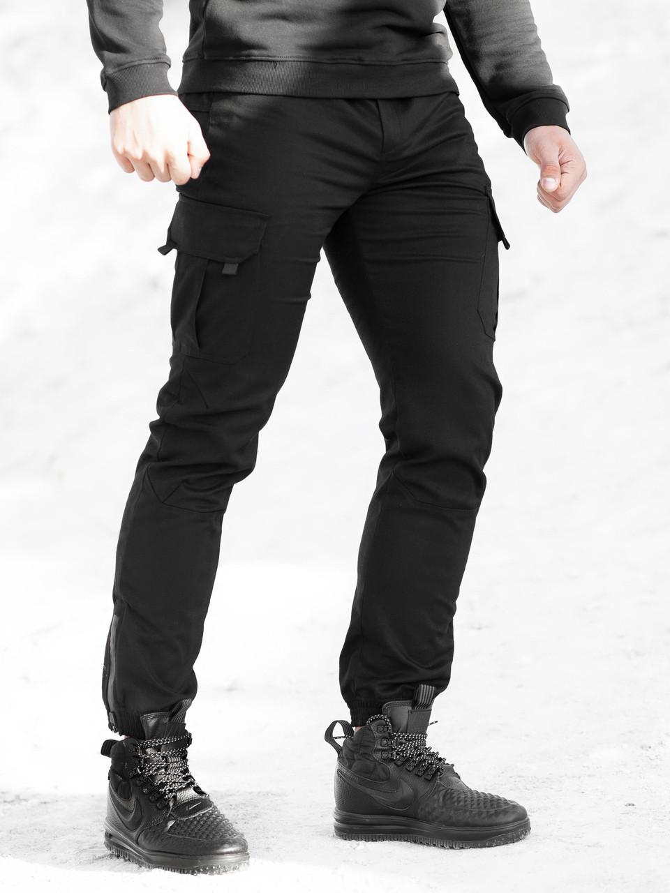 Теплые брюки карго мужские BeZet Warior 20 черные, фото 1