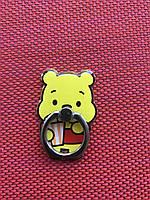 Кольцо держатель для телефона Винни пух с попкорном / планшета Popsocket медведь