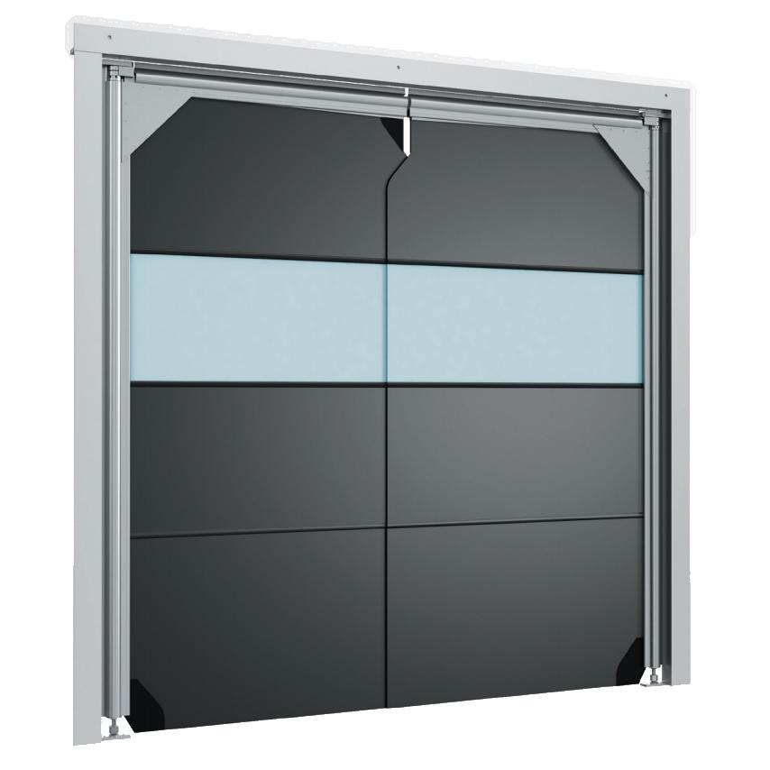 Маятниковые двери антивандальные пленочного типа DoorHan SSD-AV