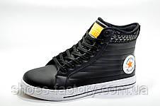 Зимние кеды в стиле Converse, Black\Orange (Термо), фото 2