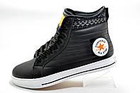 Зимние кеды в стиле Converse, Black\Orange (Термо)
