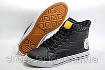 Зимние кеды в стиле Converse, Black\Orange (Термо), фото 3