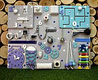Развивающая доска Бизиборд размер 50*65 игрушка бізіборд busyboard бирюзово-фиолетовый с ксилофоном, фото 1