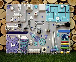 Развивающая доска Бизиборд размер 50*65 игрушка бізіборд busyboard бирюзово-фиолетовый с ксилофоном