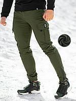 Теплые брюки карго мужские BeZet 20  хаки, фото 1