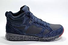 Зимние кроссовки на меху в стиле Nike Air Span 2, Темно-синий, фото 3