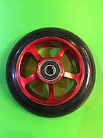 Алюминиевое колесо для трюкового самоката 100 мм с подшипниками ABEC-9 красное