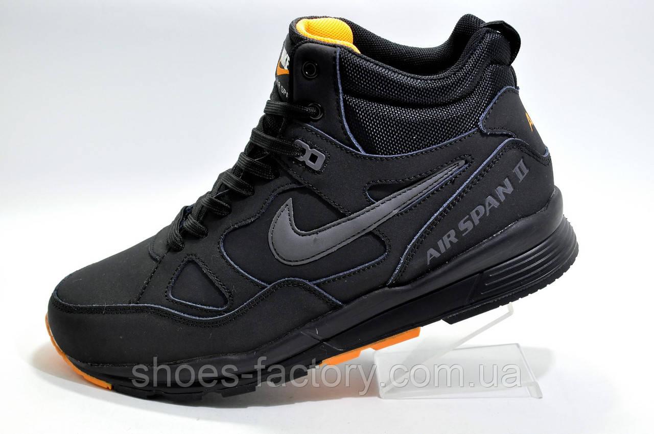 Зимние кроссовки в стиле Nike Air Span 2, Black\Orange