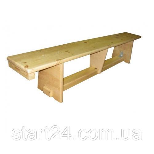 Лавка гимнастическая деревянные ножки (1,5 м)