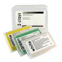 CarPro 3Clays - Синтетична глина для очищення кузова, скла, фар, колісних дисків автопластілін 3 шт.