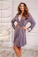 Халат женский домашний Coemi 151 C572 (женская одежда для сна, дома и отдыха, элитная домашняя одежда, пижама)