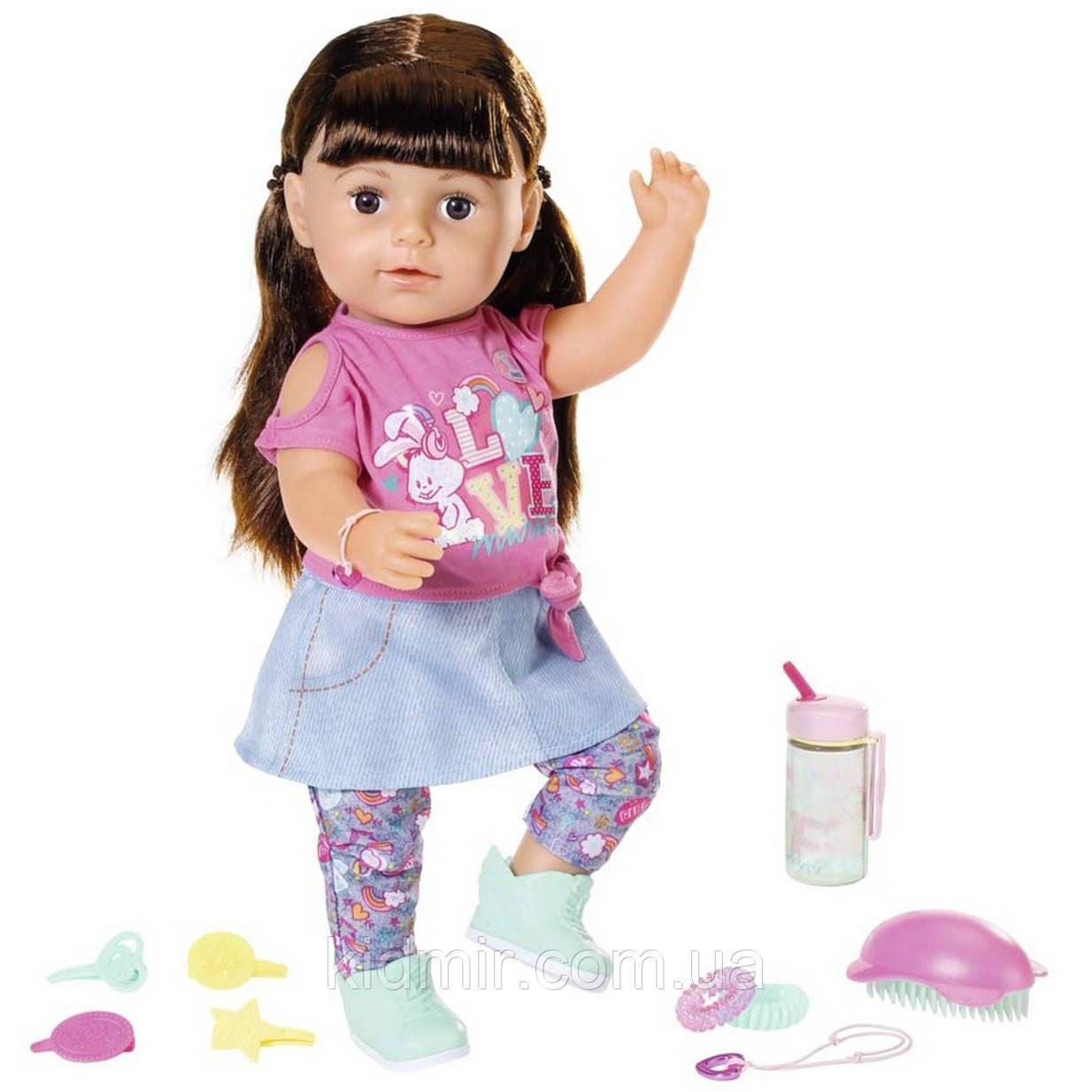 Беби Борн Интерактивная кукла Стильная сестренка Нежные объятия 43 см Baby Born Zapf 827185