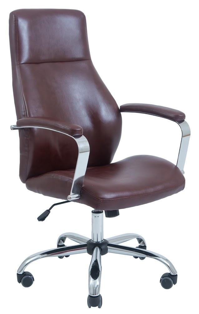 Компьютерное Кресло Авалон (Хром) коричневое