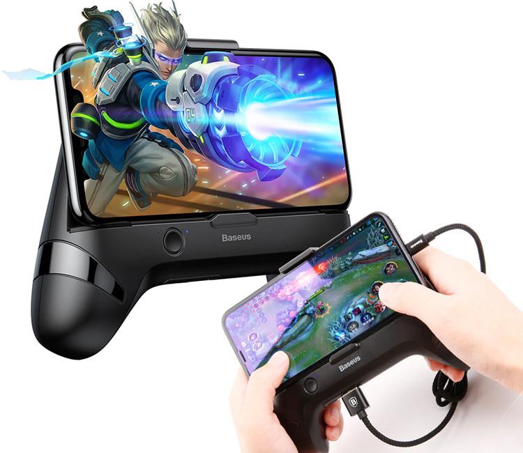 Охлаждающий держатель-джойстик для телефона Baseus Cool Play Games Black. Охлаждающая подставка для смартфона