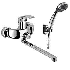Смеситель для ванны Rozzy Jenori BARON однорычажный, переключатель ванна/душ встроен в корпус, L-излив 350 мм , х