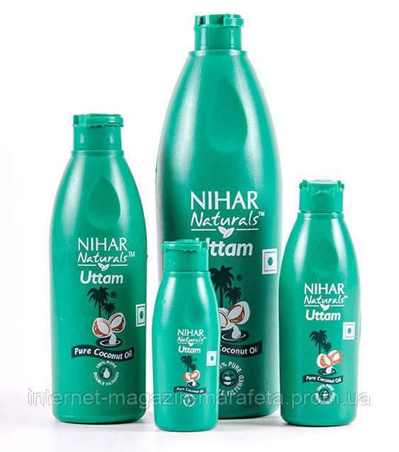 КОКОСОВОЕ МАСЛО 100% PURE COCONUT OIL NIHAR NATURALS/ 500 МЛ, косметическое масло для волос и тела Нихар