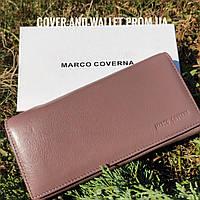 Стильный кожаный кошелек на магнитной фиксации красивого пудрового цвета Marco Coverna