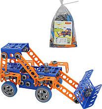 Конструктор Полісся винахідник - трактор-навантажувач №1 141 елемен в пакеті (55064)