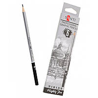 """Набір чорнографітних олівців """"Santi Highly Pro"""", 6 шт."""
