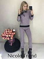 Женский ангоровый спортивный костюм меланж хаки темно-синий пудра 42-44 44-46