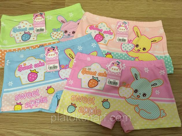 Трусы детские, трусики для девочек «Сладкий зайчик» 3-7 лет (0222XL), фото 2