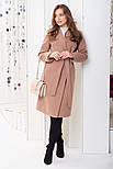 Женское длинное пальто из кашемира, фото 2