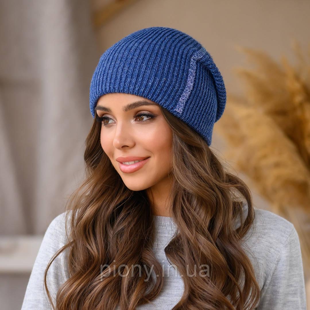 Женская шапка с люрексом