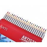 """Набір художніх кольорових олівців """"Santi Highly Pro"""", 24 шт, фото 3"""