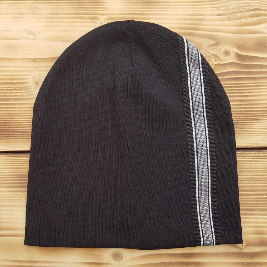 Черная трикотажная шапочка Ирен