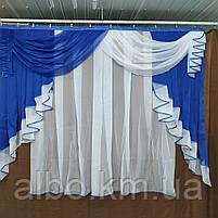 Короткая тюль в детскую ALBO 200x160 cm Синяя (KU-176-10), фото 4