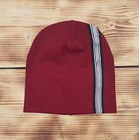 Бордовая трикотажная шапочка Ирен