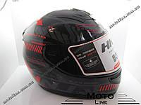 Шлем 902 (Закрытый/тонированный визор стекло) черно-красный