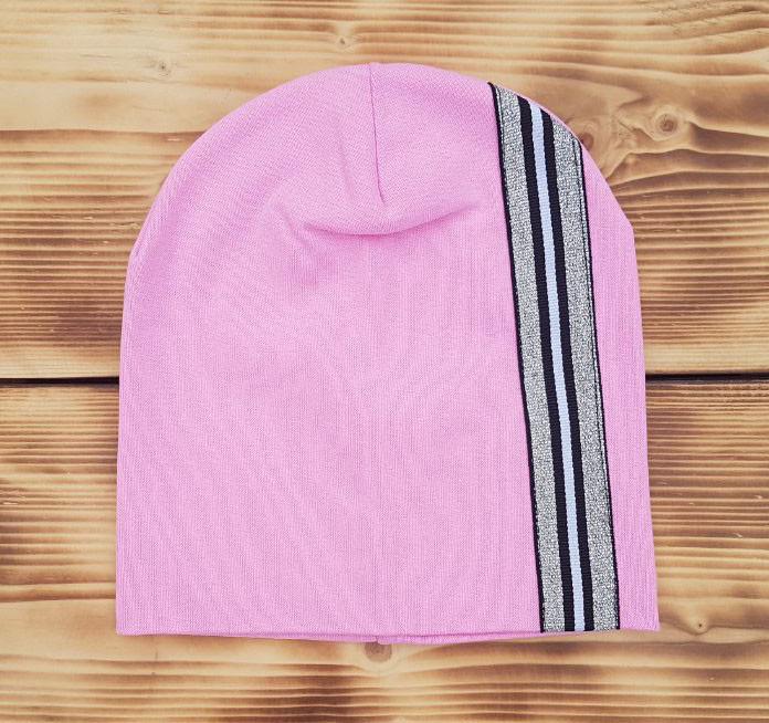 Розовая трикотажная шапочка Ирен