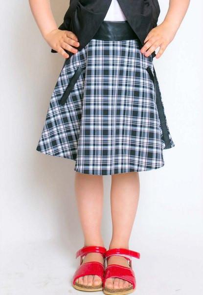 юбка в клетку полусолнце фото