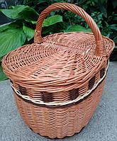 Плетеная корзина пикник овальная, фото 1