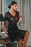 Короткое вечернее платье с прозрачной кокеткой, фото 3