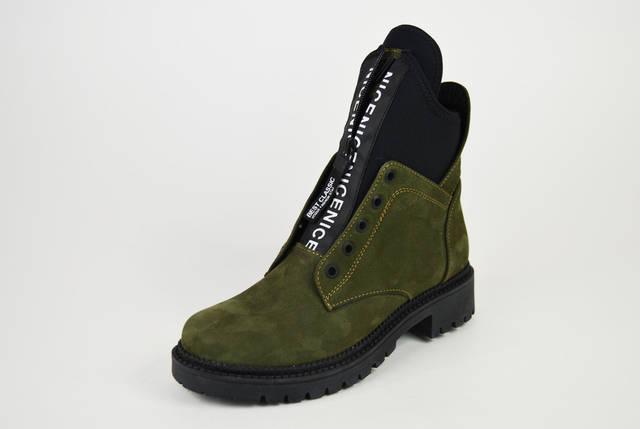 Ботинки Teona демисезонные нубук хаки 19155, фото 2