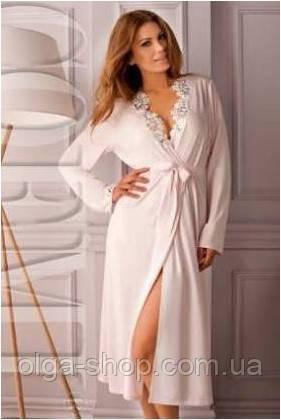 Халат женский домашний Coemi 151 C605 (женская одежда для сна, дома и отдыха, элитная домашняя одежда, пижама)