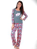 Пижама  женская ТМ Turteks T1020 (Графит) 48 Разные цвета