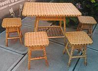 Плетеная мебель из лозы на кухню