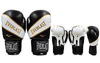 Перчатки боксерские EVERLAST BO-0221-BK SUPER-STAR (рр 12 oz, черный)