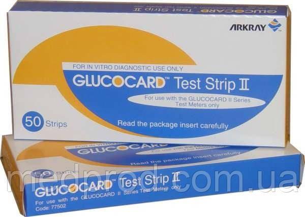Тест-полоски к глюкометру Super Glucocard II Супер Глюкокард №50