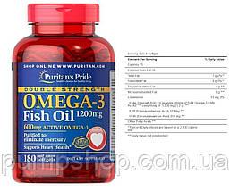 Жирні кислоти омега-3 Puritan's Pride Double Strength Omega-3 Fish Oil 1200 mg/600 mg 90 капс., фото 3