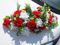 Икебана-панно Красно-белая на Присосках