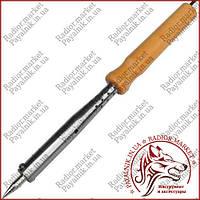Паяльник с деревянной ручкой Extools WD-100W, 220V