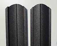 Штакет металлический 108 мм, 113 мм RAL 9005 матовый двухсторонний