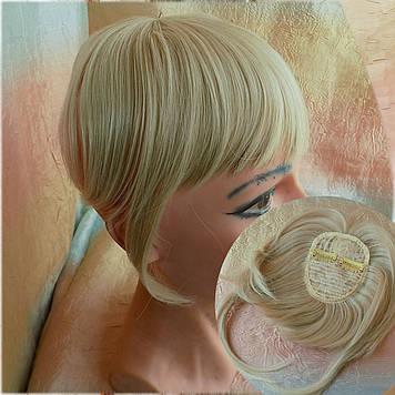 Челка накладная на защелках (клипсах) блонд с милировкой 10-028-  24ВТ613