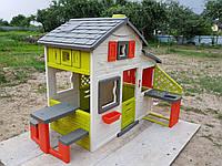 Дом для друзей Smoby + ДОСТАВКА БЕСПЛАТНАЯ с чердаком и летней кухней House New 810200